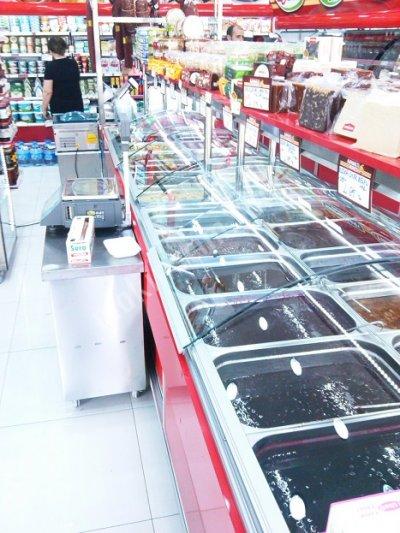 Satılık Sıfır 196 Reçel Dolabı / Teşhirli Zeytin Turşu Reyonu Fiyatları İstanbul reçel dolabı,turşu vitrini,turşu dolabı,reçel tezgahı,turşu tezgah fiyatları,zeytinlik dolabı,zeytinlik fiyat,turşu dolap fiyatları