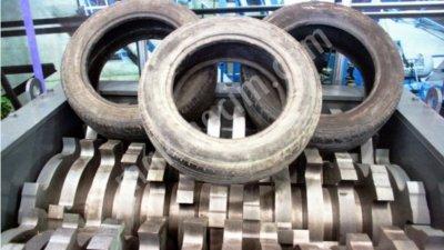 Satılık Sıfır Lastik Gerip Dönüşüm Tesisi  1000 Kg Saatte Fiyatları Karaman lastik geri dönüşüm tesisi 1 ton saatte,1 ton saatte lastik geri dönüşüm tesisi,araba lastiği kırma makinaları,lastik işleme tesisi,çift shaftlı shredder,lastik kırma makinaları