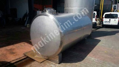 2.el Paslanmaz Krom Süt Taşıma Tankı Su Depolama Tankı 3 Mm Kalınlıgında