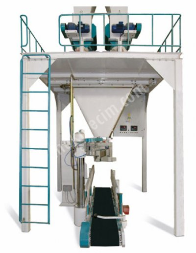 Makinenet Tam Otomatik Terazili Tartım Sistemli Yem Çuval Torba Dolum Paketleme Makinesi