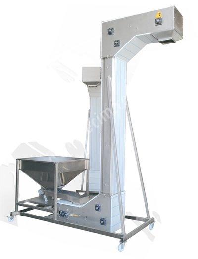 Makinenet Z Tipi Plastik Kovalı Hız Kontröllü Ürün Taşıma Besleme Elevatörü