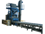 Sac Ve Profil Kumlama Makinesi - Roller Conveyor Shot Blasting Machine