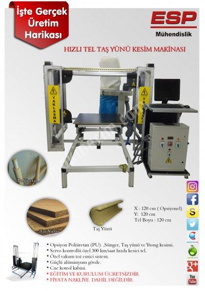 Satılık Sıfır Taş Yünü - Pu Poliüretan - Sünger Kesim Makinası. Fiyatları Bursa taş yünü kesim makinası,poliüretan kesim makinası,taş yünü,poliüretan,sünger kesim makinası,sünger,ytong kesim makinası,ytong