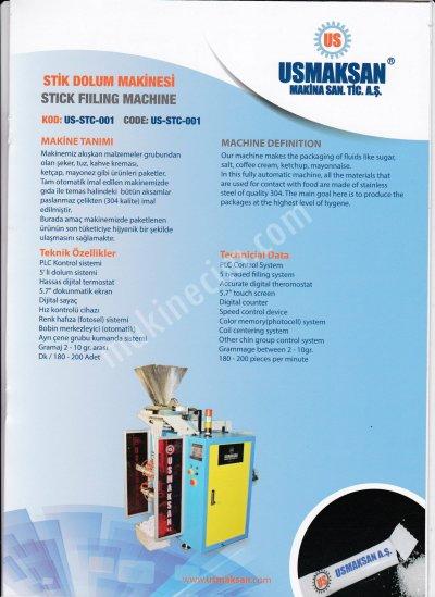 Satılık Sıfır Stick Şeker Dolum Makinesi Fiyatları İstanbul şeker dolum,şeker dolum makinesi,stick şeker,stick şeker dolum,stick şeker doldurma makinesi
