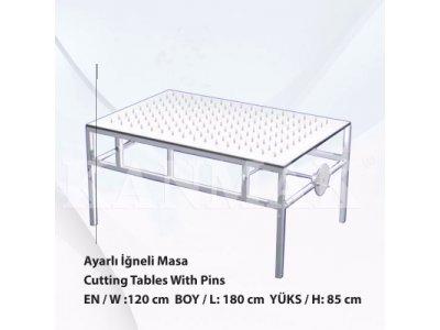 Satılık Sıfır Alttan Çıkmalı İğneli Masa Km 3100 Fiyatları İzmir alttan çıkmalı iğneli masa,kumaş kesim masaları