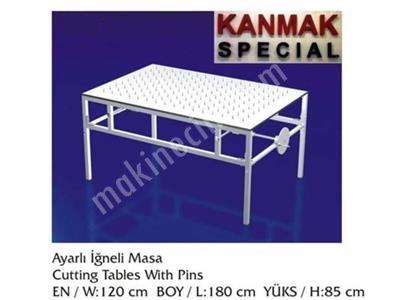Satılık Sıfır Alttan Çıkmalı İğneli Masa Km 3100 Fiyatları İstanbul alttan çıkmalı iğneli masa,kumaş kesim masaları