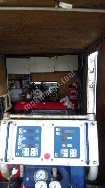 Satılık 2. El Poliüretan Sprey Köpük Makinası Graco H25 Fiyatları İstanbul sprey poliüretan köpük mak graco h 25