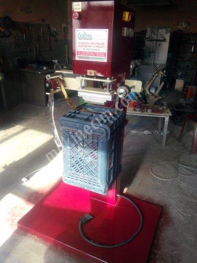 Satılık Sıfır Plastik Kasa Sıcak Baskı Makinası Fiyatları Bursa plastik kasa baskı makinası,plastik kasa yaldız baskı makinası,kasa baskı makinası akyol makina sanayi  sıcak baskı makinası
