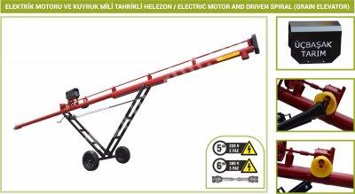 Satılık Sıfır 8 Metre  380 Volt Elektrikli Ve Şaftlı Helezon Ø 170mm Fiyatları İstanbul helezon,elevatör,hububat,hububat elevatörü,konya tarım,üçbaşak