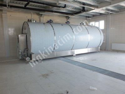 Satılık Sıfır Süt Soğutma Tankı 20 Ton Kapasiteli Emsalsiz Kurulum İle... Fiyatları Konya süt tesisi, süt depolama tesisi, soğutma, süt tankı, depolama tankı, soğutma tankı, paslanmaz tank, paslanmaz soğutma tankı, paslanmaz süt tankı, süt tankı, taşıma, paslanmaz