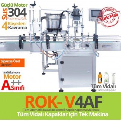 Satılık Sıfır Rok-v4af-tam-otomatik-kapak-beslemeli-vidalı-kapak-sıkma-makina Fiyatları İstanbul kapak sıkma,kapak kapatma,kapak makinası