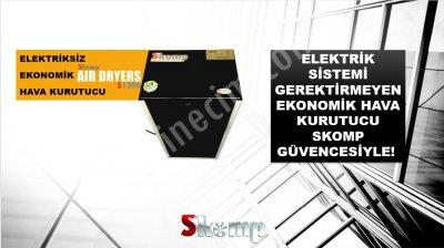Satılık Sıfır Elektriksiz Hava Kurutucu - Skomp Air Dryers S1200 Fiyatları  hava kurutucu,elektriksiz,sessiz kompresör,hava kompresörü,kurutucu,yağsız,sessiz