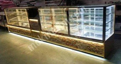 Satılık Sıfır Pasta Dolabi Let Aydinlatmali İsi Camli Surgulu Metre 2.400 Fiyatları İstanbul pasta,pastane dolabıi,yaş pasta dolabı,kurupasta dolabı