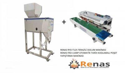 Satılık Sıfır Renas Yarı Otomatik Terazili Paketleme Sistemi Fiyatları Konya paketleme makinası,paketleme makinaları,