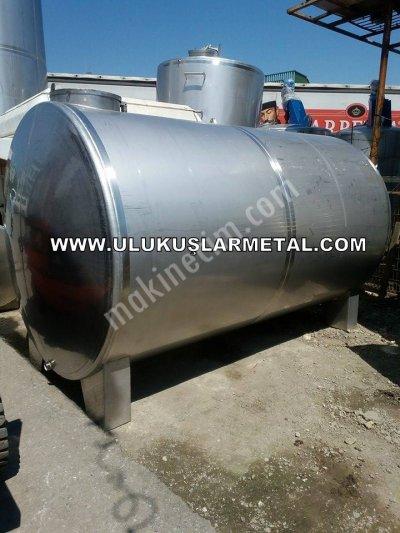 Paslanmaz Krom Ürün Depolama Tankı 10 Tonluk Ve 15 Tonluk Krom Tank Depo