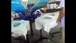 6 Kollu Serigrafi Baskı Makinesi