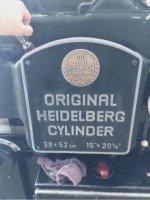 Heidelberg 38X52 Kazanlı Kesim Makinesi Çok Temiz