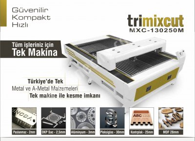 Pleksi  Ahşap Ve Metal Lazer Kesim Makinası