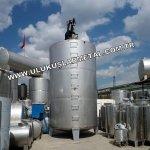 Paslanmaz Ürün Depolama Tankları Krom Tanklar 60- 100 Tonluk