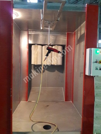 Elektro Statik Toz Boya  Kabini Tabanca Boya Pişirme Fırını Komple