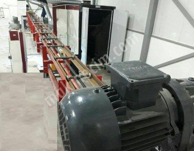 Elektro Statik Toz Boya Kabini Üstten Konveyörlü