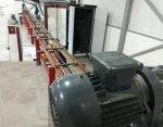 Eletrostatik Powder Paint System Conveyor Com 1 Manuel Gun E Sprey Cabin