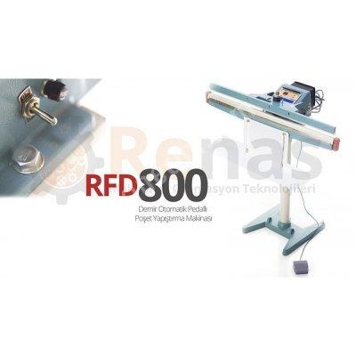 Rfd-800 Demir Gövde Pedallı Poşet Ağzı Kapatma Makinası
