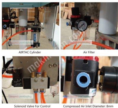 Rfd-350 Pnomatik Pedallı Poşet Yapıştıtrma Makinası