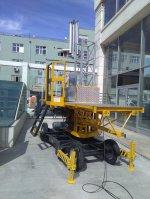 Hareketli Otomatik Cephe Platform İskelesi 30 M Yükseklik 10.5 M Genişlik Alc2000
