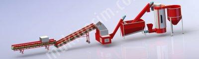Satılık Sıfır Pp-pe Yıkamalı Granül Hattı 500-1000 Kg Kapasiteli Hak Makina Fiyatları Gaziantep PLASTİK GERİ DÖNÜŞÜM HATTI