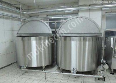 Paslanmaz Süt Pişirme Kaynatma Kazanları
