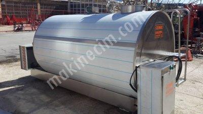 Satılık Sıfır 2000 Lt Kapasiteli Yatay Otomatik Yıkamalı Süt Soğutma Tankı Fiyatları Denizli cemre