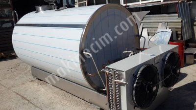 Satılık Sıfır 3000 Lt Kapasiteli Yatay Otomatik Yıkamalı Süt Soğutma Tankı Fiyatları Denizli CEMRE