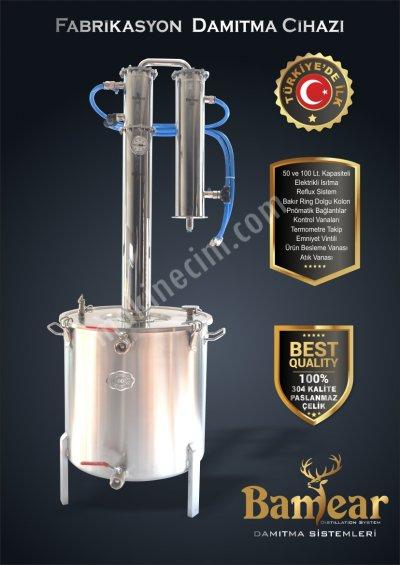 Fabrikasyon Tip Damıtma Cihazı 100 Lt. ( İmbik )