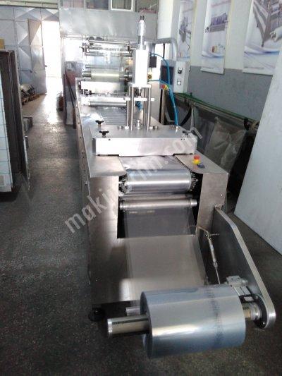 Zincirli Termoform Makinası Sert Folyo Dilim Kaşar Çeçil Peynir