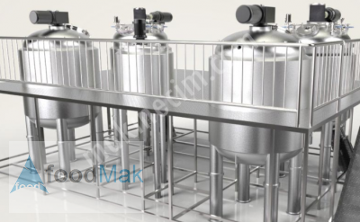 Stainless Steel Tank Reactor - 300 L With Homogenization And Temperature Control Systems