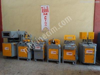 Satılık İkinci El tam Takım Pimapen Doğrama Makinaları Fiyatları İstanbul pvc makinaları ikinci el pvc doğrama makinaları teknik makina pvc işleme makinaları