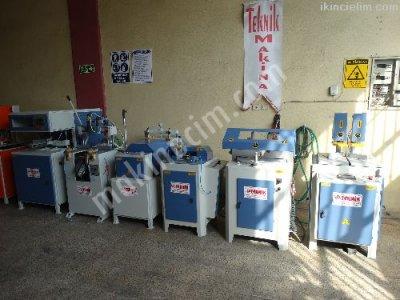 Satılık İkinci El tam Takım Pvc Makinaları Teknik Makinadan Fiyatları İstanbul pvc makinaları ikinci el pvc doğrama makinaları teknik makina pvc işleme makinaları