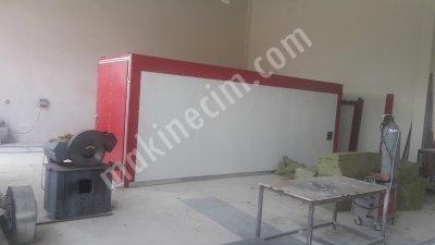 Satılık Sıfır Toz Boya Fırını 6.50 Metre Fiyatları Antalya toz boya, fırın,elektrostatik,statik,tozboya