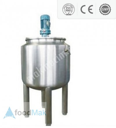 Stainless Steel Tank Reactor - 500 L With Homogenization And Temperature Control Systems