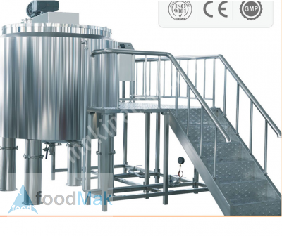 Stainless Steel Tank Reactor – 2 T With Homogenization And Temperature Control Systems
