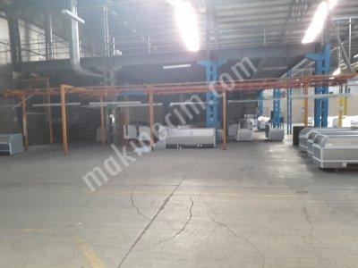 Satılık 2. El Elektrostatik Toz Boya Tesisi Fiyatları Ankara elektrostatik,boya,tesis,imalat,tozboya