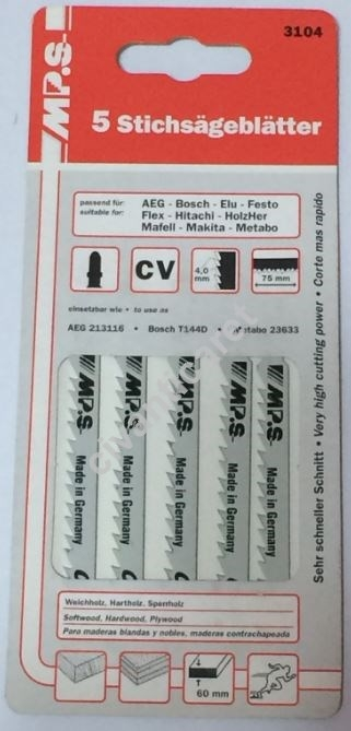 Satılık Sıfır Dekupaj Testere Seti 5'li Ahşap için  3104 ALMAN MPS-3104 Fiyatları İstanbul
