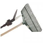 Plastik Tırmık Saplı Ve Tekerlekli Çimen Makası Seti Ag-Rs17601