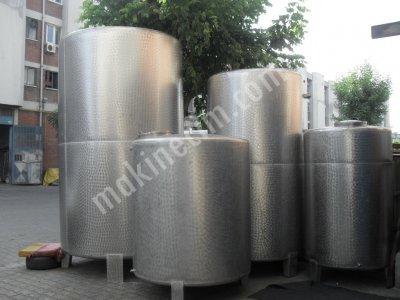 Paslanmaz Krom Çelik Su Zeytinyağı Mazot Şarap Glikoz Tankları İmalatı Krom