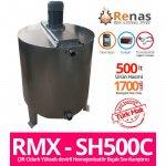 Rmx - Sh500C Çift Cidarlı Yüksek Devirli Homojenizatör Bıçak Krem Ve Sıvı Karıştırma Kazanı