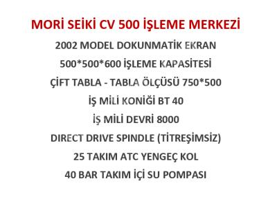 Mori Seiki Cv 500 Çift Palet İşleme Merkezi