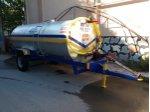 Santrifüj Pompalı Su Tanker Galvaniz Paslanmaz 6 Ton 6000 Litre