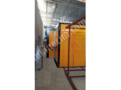 Elektro Statik Toz Boya Fırını   Çift Kapılı Arabalı 6M 1,5 M 2,5 M
