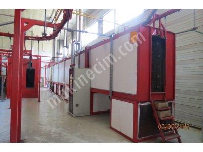 Satılık 2. El Elektro Statik Toz Boya  Tesisi Fiyatları İstanbul elektrostatik toz boya tesisi komple